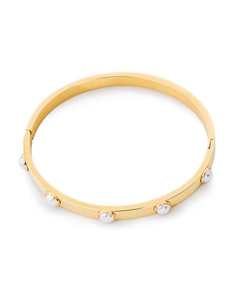 Fiona Pearl Bangle Guld