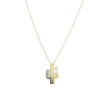 Halsband Kaktus Guld