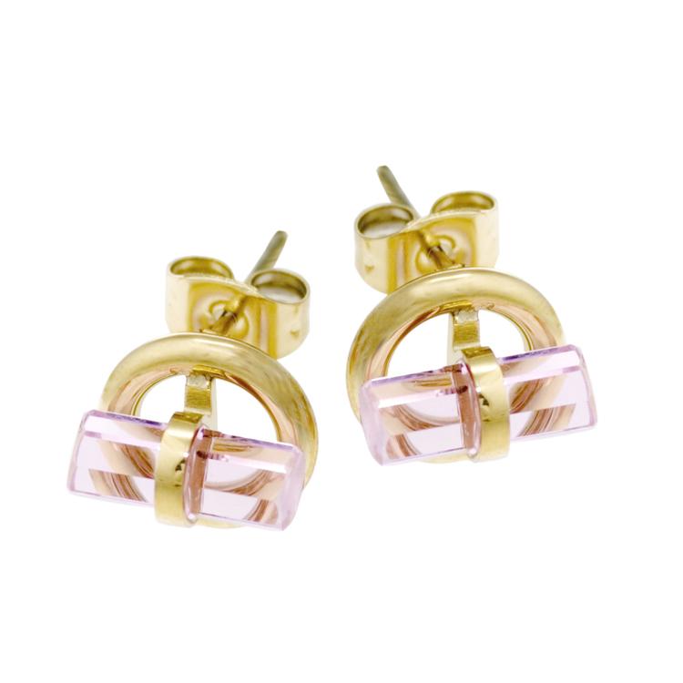 Stina Örhängen Pink Steel eller Guld