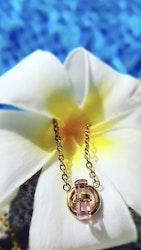 Stina Halsband Pink/Guld eller Pink/Steel