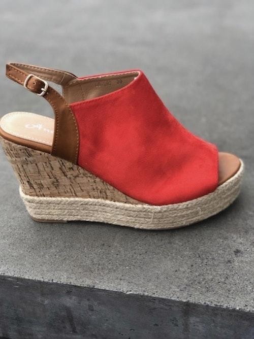 Kilklacks-sandal  Röd  Förboka