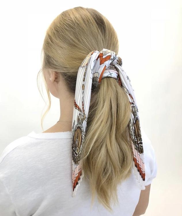 Hårsjal  Rosa/Orange, Blå eller Kedjemönster