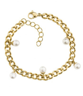 Chanel Pearl Armband Guld