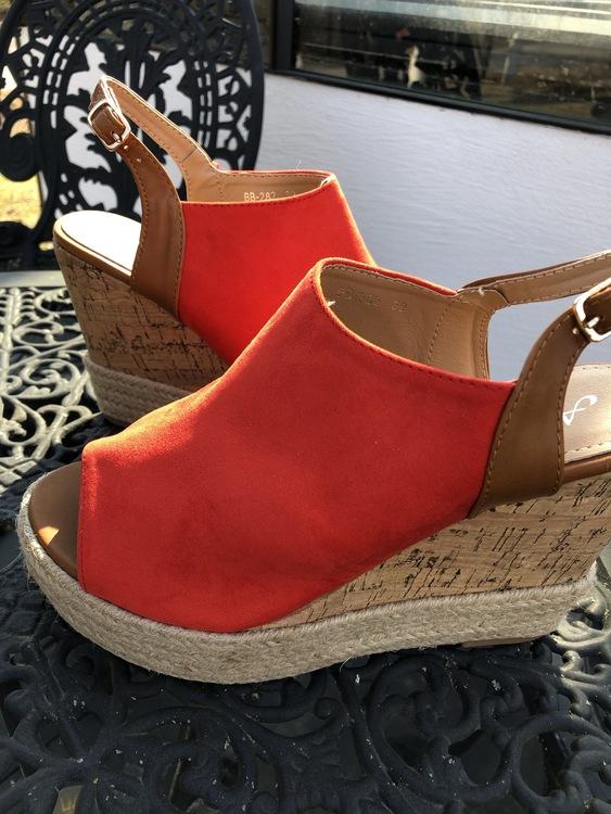 Kilklacks-sandal  Röd