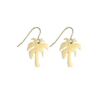 Palm Örhängen Guld