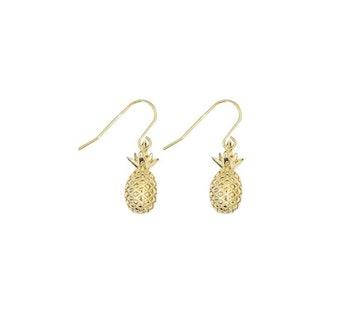Pineapple Örhängen Guld