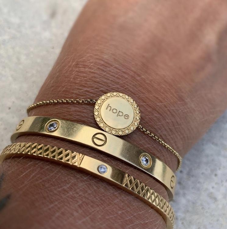 Hope Armband Guld