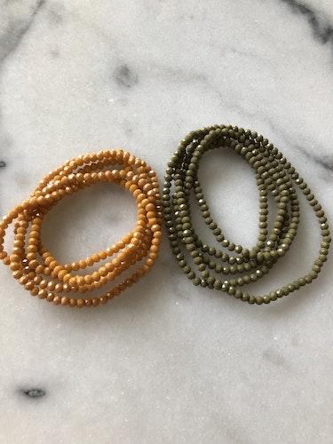Halsband / Armband  Orange eller Grön