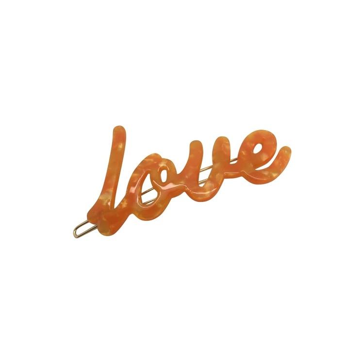 Hårspänne Love Orange