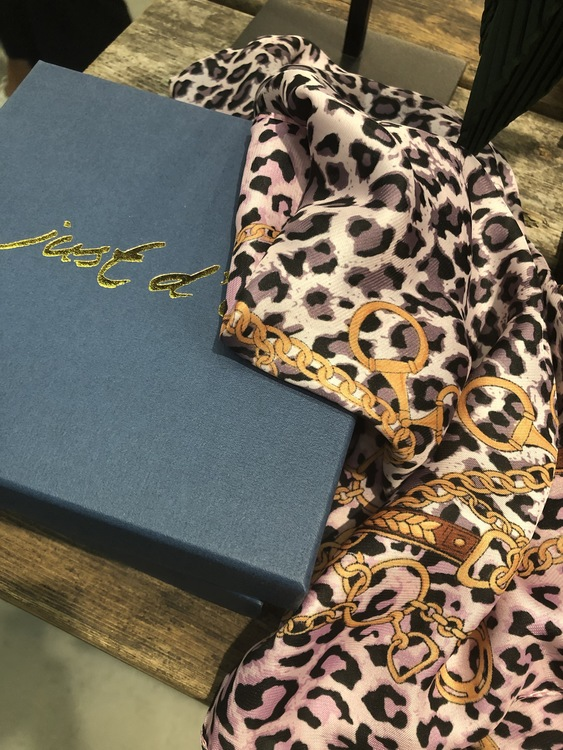 Small Scarf Leopard Rosa
