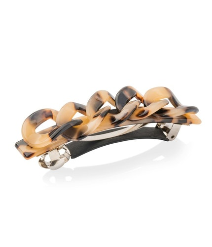 Hårspänne Wave barrette liga brown