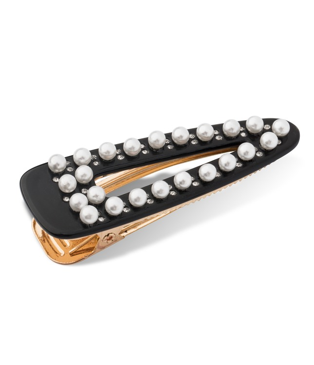 Hårclips Crocodile Pearl