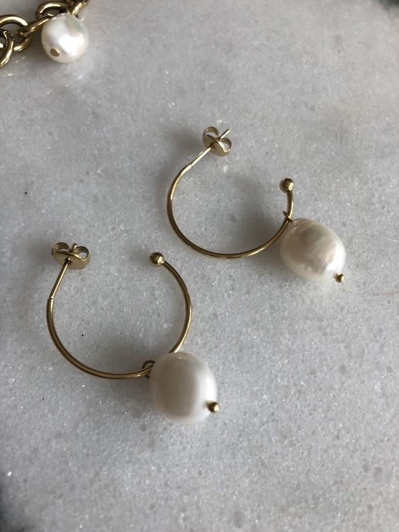 Palma Örhängen Creol Pearl Guld