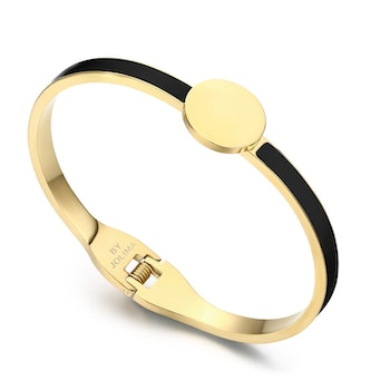 Poppy Bangle Emalj Black/Gold