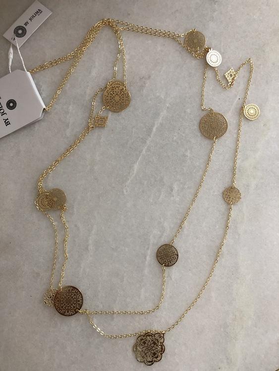 Spinn Multi Halsband Guld