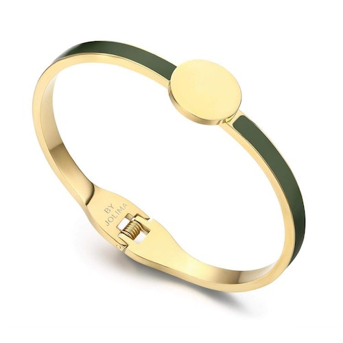 Poppy Bangle Emalj Army/Gold