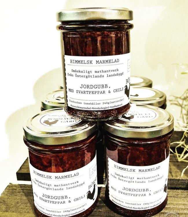 Himmelsk Marmelad Jordgubb med svartpeppar & chili
