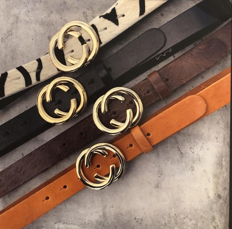 Läderskärp  Svart, Brun eller Cognac