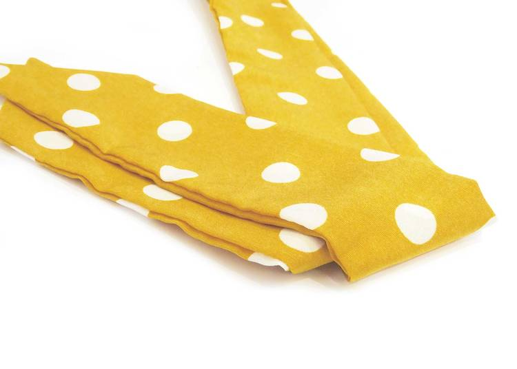 Viva Scarf Polka Dot Yellow