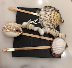 Hårspänne Shell 4-pack