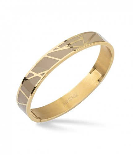 Rose Enamel Armband Sand/Guld