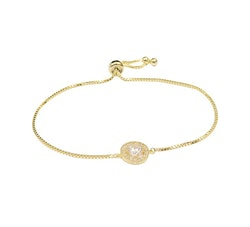 Estrade Armband Golden Clear
