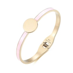 Poppy Bangle Emalj Pink