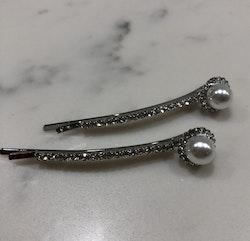 Hårclips 2-pack Silver