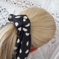 Cindy Scrunchy Scarf Dot Black