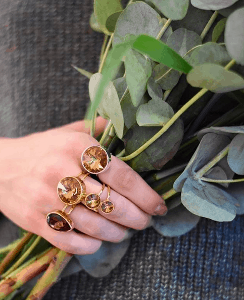 Kai Ring  Gold/ Amber