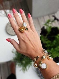 Moon Ring Gold/Light pink