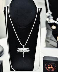 Dragonfly Mini Halsband Silver