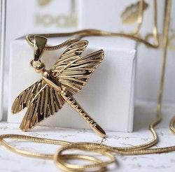 Dragonfly Mini Halsband Gold