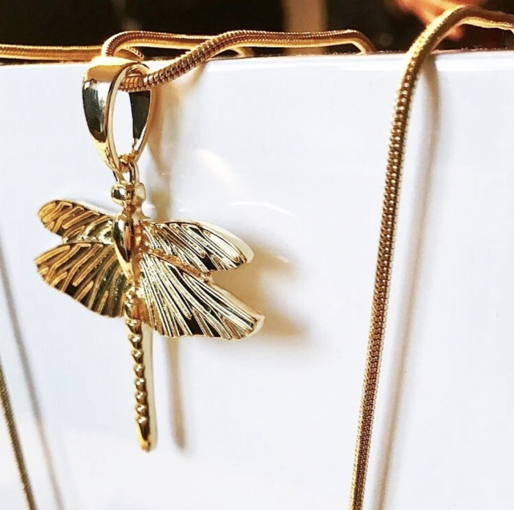 Dragonfly Mini Halsband Gold