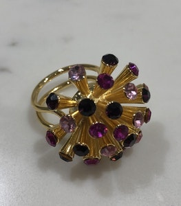 Meteor Ring Gold/Cerise Mix