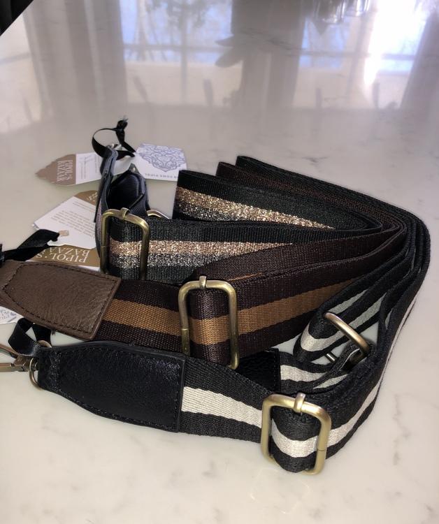 Strap Striped Brown