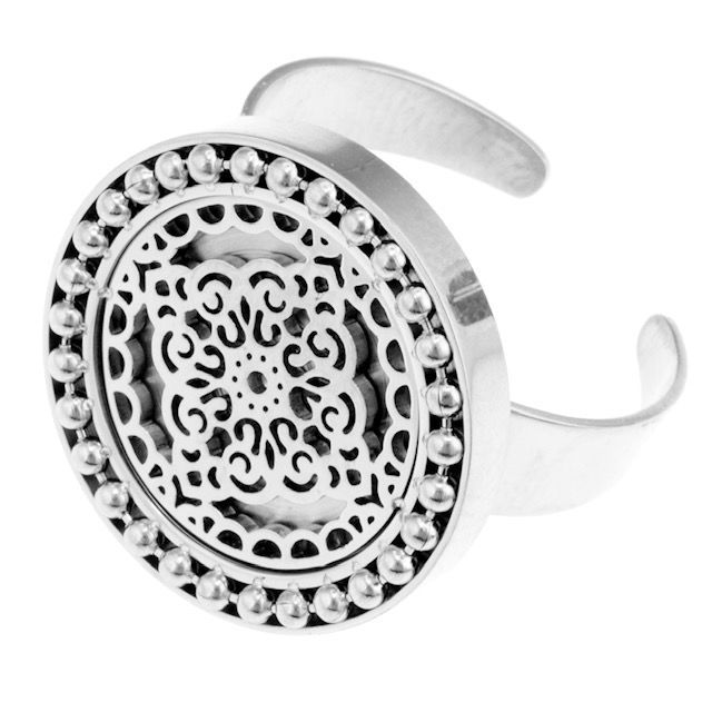 Steffie coin Ring Steel