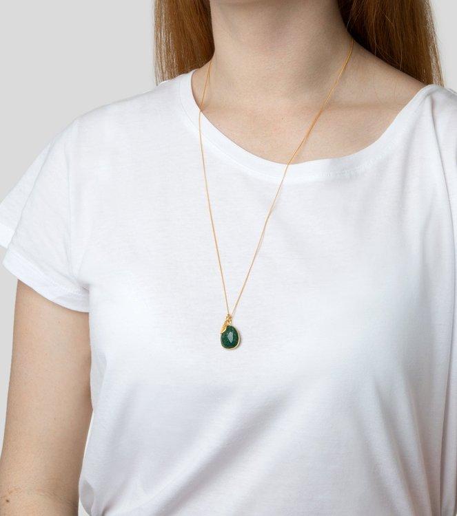 Glam  Halsband  Guld/Green Aventurine