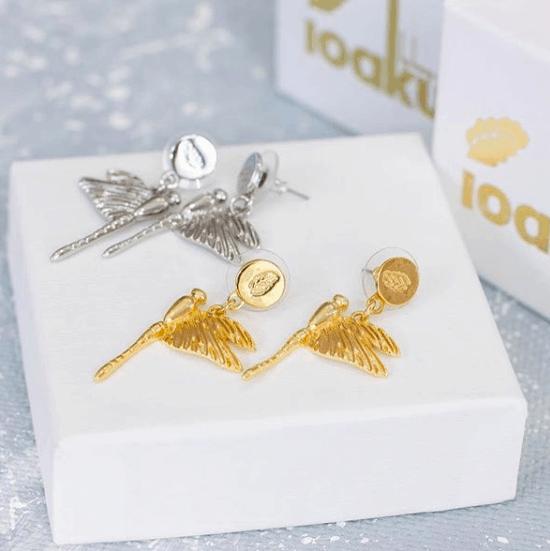 Dragonfly Örhängen Guld