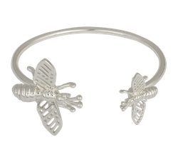 Insect Cuff Armband Silver