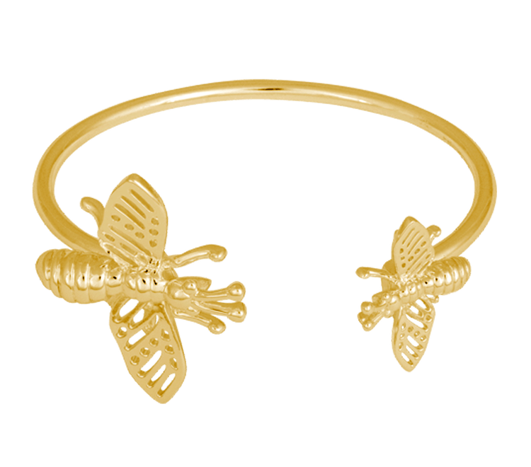Insect Cuff Armband Guld