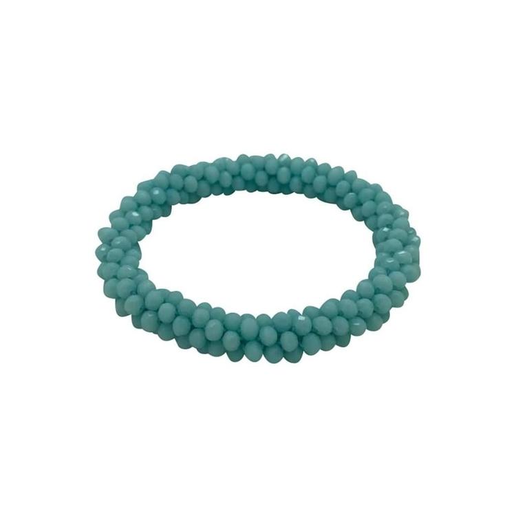 Hårsnodd/Armband Crystal Rosa, Beige, Dusty blue eller Aqua blue