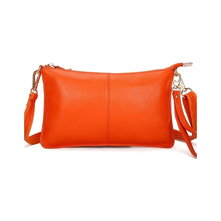 Clutch  Läder Orange, Plommon, Grön eller Blå