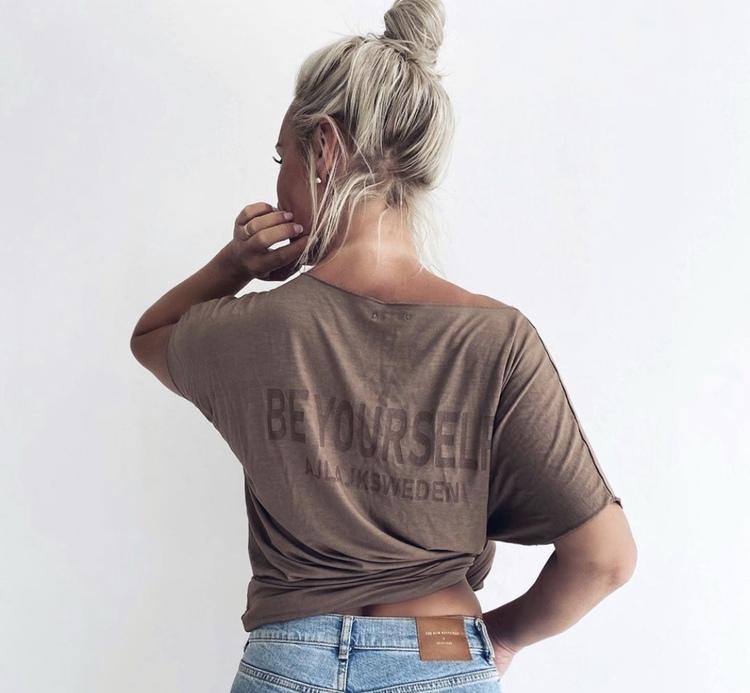 Oversize Topp med print Honey