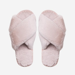 Lou Faux fur slippers Light Pink