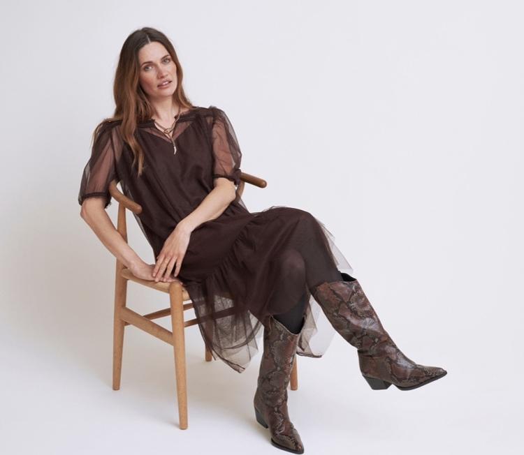 Diana Dress Mörkbrun