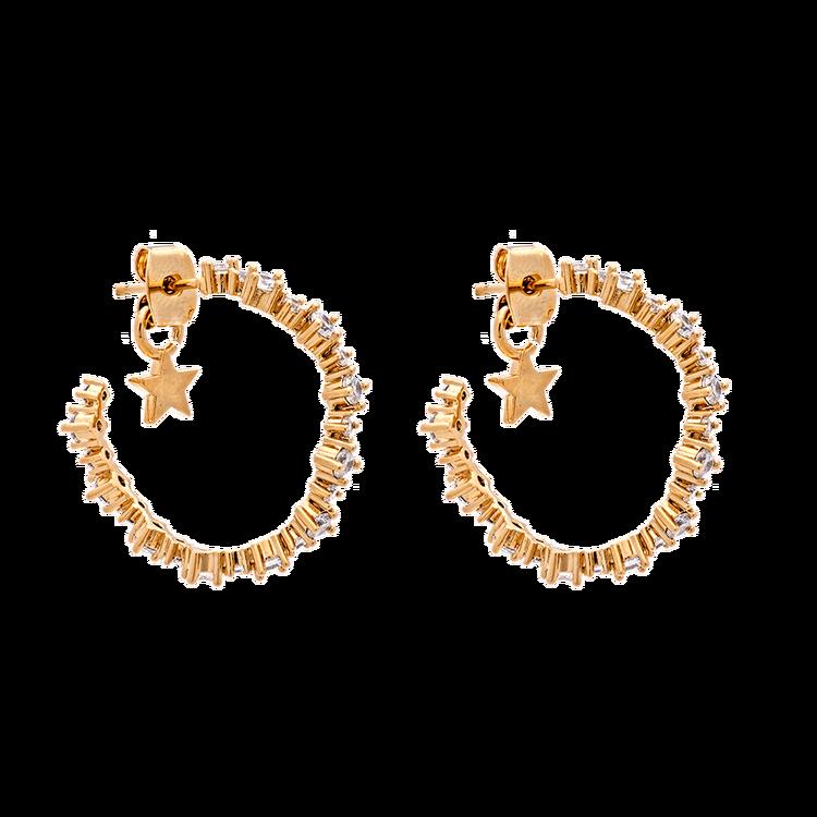 Capella Hoops Örhängen Crystal/Gold