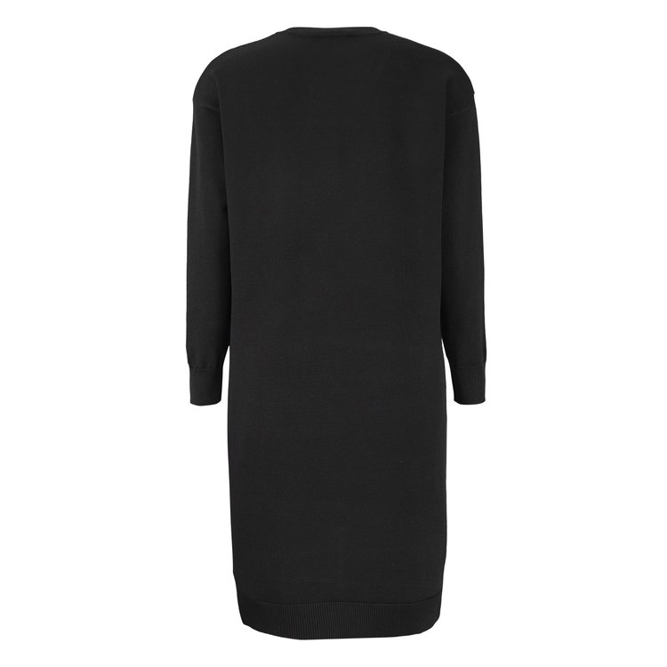 Lea V-Neck Dress Svart