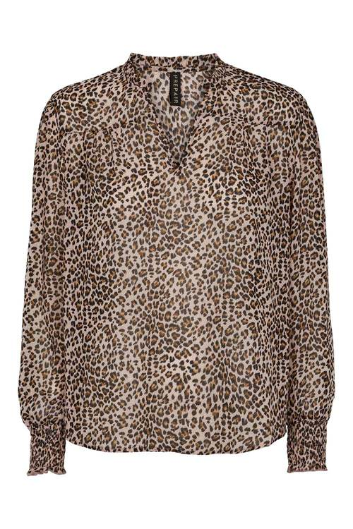 Annabell Blus Rosa Leopard