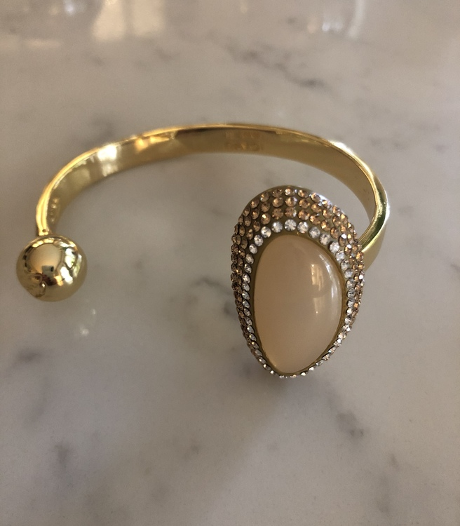 Goldmine Sparkle Cuff Gold/white
